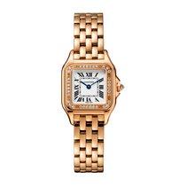 Cartier nowość Kwarcowy 22mm Złoto różowe Szkiełko szafirowe
