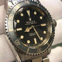 Rolex Submariner (No Date) Stahl 40mm Schwarz Keine Ziffern
