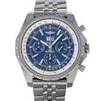 Breitling Bentley 6.75 pre-owned 48mm Blue Chronograph Panorama date Date Steel