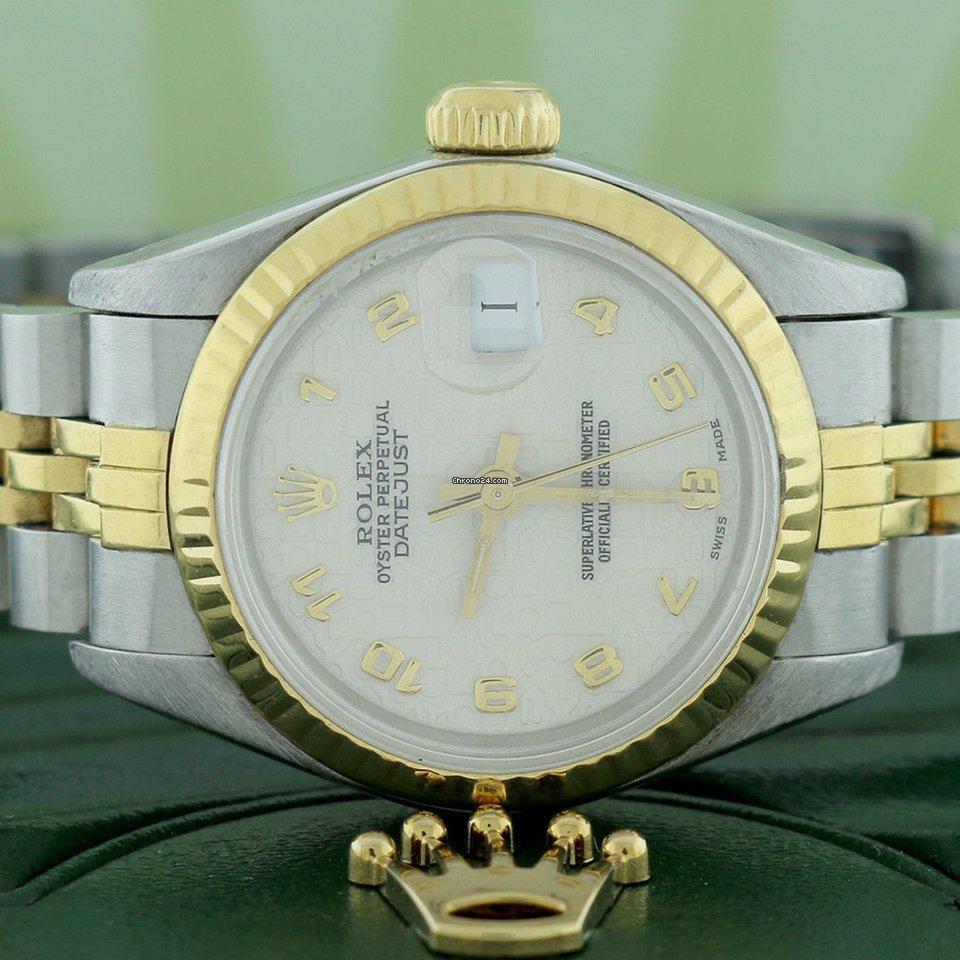 Rolex Datejust Ladies 2 Tone Gold Steel Factory Jubilee Dial 26mm Watch 69173