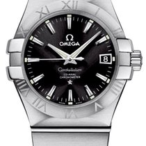 Omega Constellation Ladies Сталь 35mm Черный
