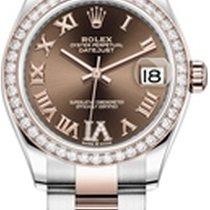 Rolex Datejust Or/Acier 31mm Brun Romain