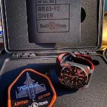 Bell & Ross BR 03-92 Steel neu 2018 Automatik Uhr mit Original-Box und Original-Papieren BR0392-D-BL-ST/SRB