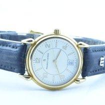 Maurice Lacroix Calypso Damen Uhr Stahl Vergoldet Quartz 28mm