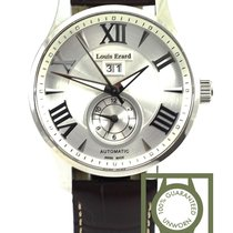 Louis Erard 1931 44mm GMT big date silver dial steel automatic...