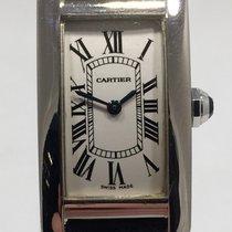 Cartier Tank Americaine Strapwatch 18k White Gold