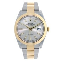 Rolex DATEJUST 41mm Steel & 18K Yellow Gold Silver Dial 126303