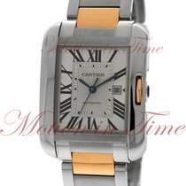 Cartier Tank Anglaise Gold/Steel 39.2mm Silver Roman numerals United States of America, New York, New York