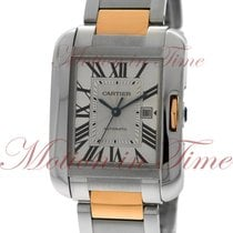 Cartier Tank Anglaise Large Automatic, Silver Dial - Rose Gold...