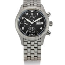 IWC | A Stainless Steel Automatic Chronograph Wristwatch With...