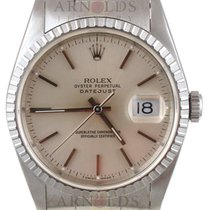 Rolex 1991 Datejust Stainless Steel Silver Stick Dial Oyster Band