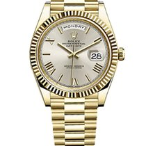 Rolex Day-Date 40 Yellow gold 40mm Silver United States of America, New York, NEW YORK