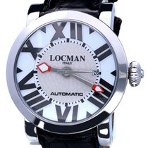 Locman Steel Automatic Silver 48mm pre-owned Toscano