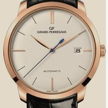 Girard Perregaux Rose gold Automatic White No numerals 38mm pre-owned 1966