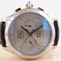 제니트,새 시계/미 사용,정품 박스 있음, 서류 원본 있음,44 mm,화이트골드