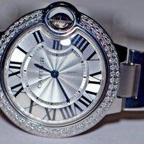 Cartier Ballon Bleu 33mm Stahl 33mm Silber Römisch