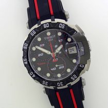 Tissot T-Race rabljen 45mm Crven Kronograf Datum, nadnevak Kaučuk