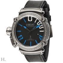 U-Boat new Automatic Center Seconds Luminescent Hands Limited Edition Crown Left Screw-Down Crown Helium Valve Luminous indexes 47mm Titanium Sapphire Glass