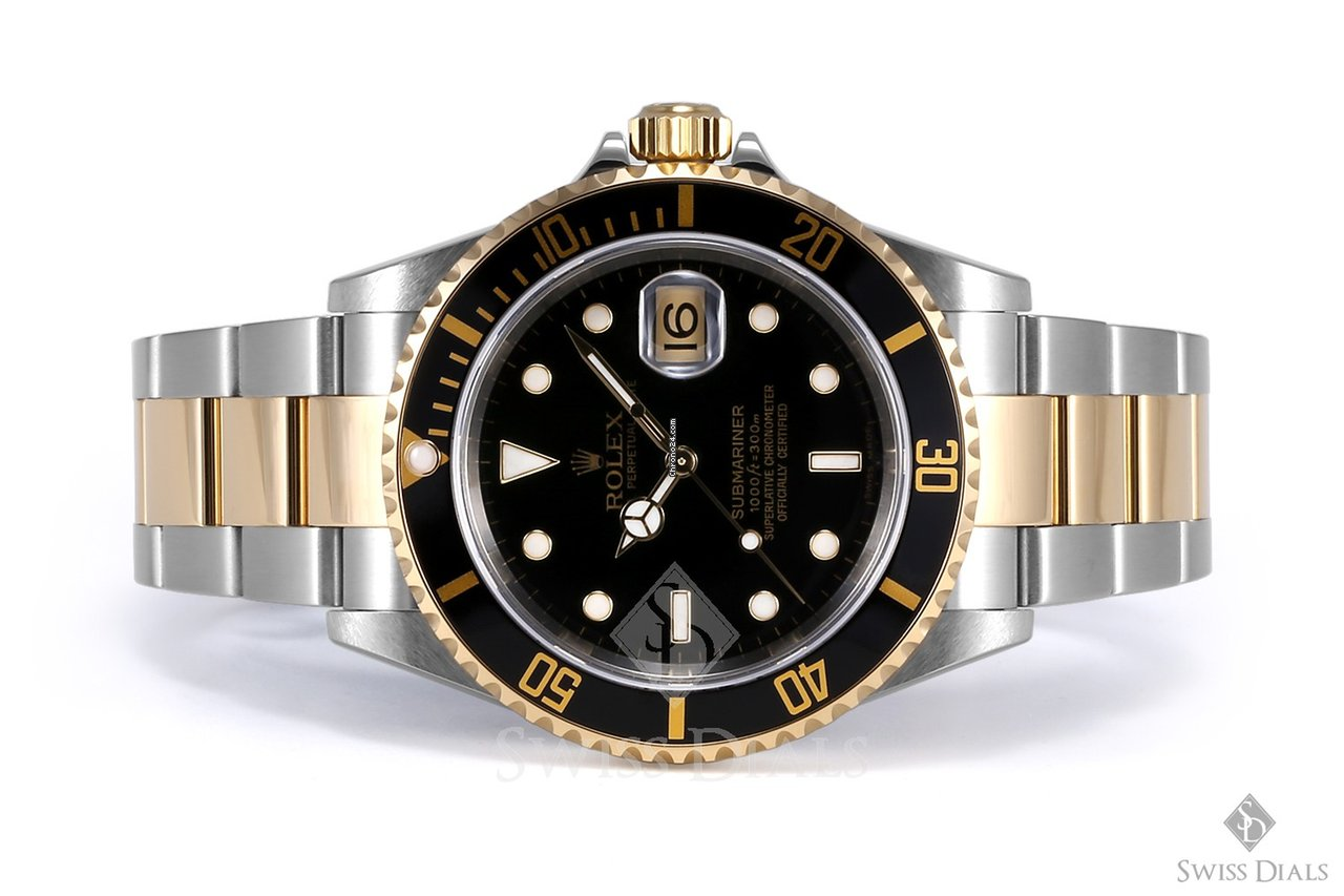 Rolex Submariner Gold And Black