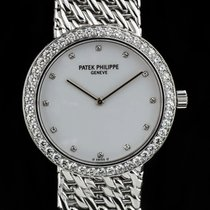Patek Philippe 18k W/G Diamond Dial & Bezel Calatrava 5006/17