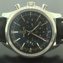 Breitling Transocean Chronograph GMT Stahl 43mm