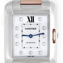 Cartier Tank Anglaise Steel & Rose Gold Unisex WT100025