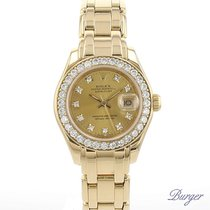Rolex Datejust Lady Pearlmaster Yellow Gold Diamonds