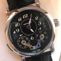 Montblanc Cronograf 43mm Atomat 2017 nou Nicolas Rieussec Negru