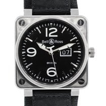 Bell & Ross BR 01-96 Grande Date pre-owned 46mm Black Textile
