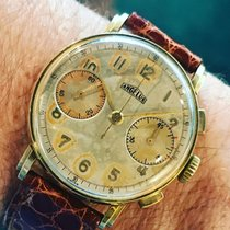 Angelus vintage CHRONOGRAPH gold 18 kts cal 132