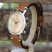Gübelin Vintage 2 register Chronograph cal. Valjoux 22 Salmon...
