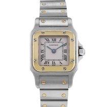 Cartier Santos en or et acier Ref : 1567 Vers 1990