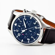 IWC Pilot Chronograph Steel 43mm Black Arabic numerals United States of America, Virginia, Williamsburg