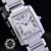 Cartier 20mm Quartz 2000 new Tank Française White