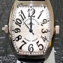 Franck Muller Secret Hours Oro blanco 60.3mm Blanco Árabes