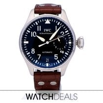 IWC Big Pilot tweedehands 46mm Zwart Datum Vouw