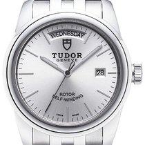Tudor Glamour Date-Day Stahl 39mm Silber Deutschland, Schwabach