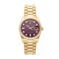 Rolex Day-Date 36 Or jaune 36mm Rose Sans chiffres