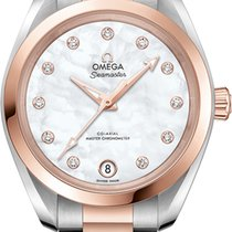 Omega Seamaster Aqua Terra Gold/Steel 34mm Mother of pearl United States of America, Iowa, Des Moines