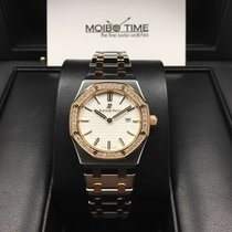 愛彼 (Audemars Piguet) 67651SR Royal Oak Two-Tone Lady White...