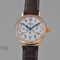 Longines Red gold Automatic White 40mm pre-owned Heritage