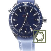 Omega Seamaster Planet Ocean Co Axial 600m blue leather