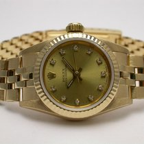 Rolex 67198 Oyster Perpetual 18k Yellow Gold Diamond Ladies...