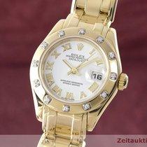 Rolex Lady Datejust Pearlmaster 29 18k Gold Diamanten Ref. 80318
