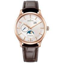 Zenith Captain Moonphase Rose gold 40mm Silver United States of America, Pennsylvania, Holland