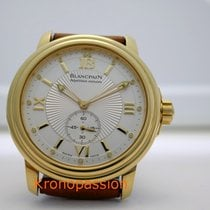 Blancpain Yellow gold Automatic White No numerals 38mm pre-owned Léman