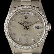 Rolex Day-Date Platinum 36mm Silver No numerals