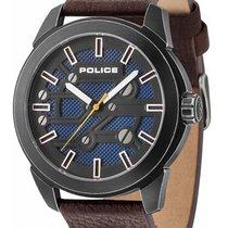 Police Steel 48mm Quartz PL14637JSQU.03 new