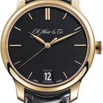 H.Moser & Cie. Yellow gold Manual winding Black 40,80mm new Endeavour
