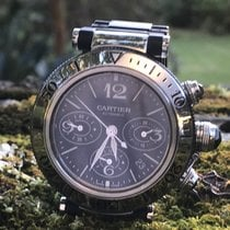 Cartier Chronograph 42mm Automatic pre-owned Pasha Seatimer Black
